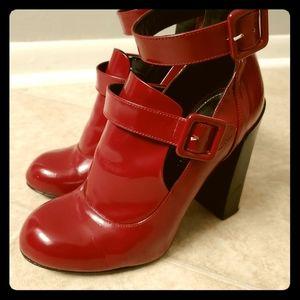 Jill Stuart Red Heels with Buckles